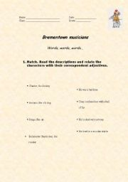 English Worksheets: Brementown musicians