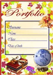 Worksheet portfolio cover english worksheet portfolio cover pronofoot35fo Image collections