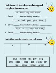 English Worksheets: Think and reason - set of 31 work cards