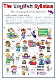English Worksheet: The English Syllabus