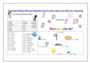 English Worksheets: Stuff to help students to write the summary!