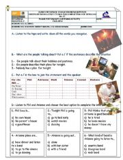 English Worksheet: Listening activities