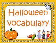 English Worksheets: Halloween Flashcards