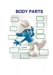 English Worksheets: Clumsy Body Parts
