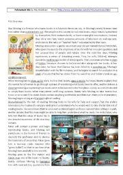 English Worksheets: Fahrenheit 451_ray bradbury_sum up_vocab