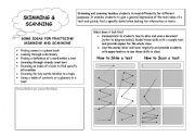 English Worksheets: Reading Skills: Skimming and Scanning