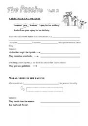 English Worksheet: Passive: verbs with two objects