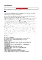 English Worksheets: Banking listening