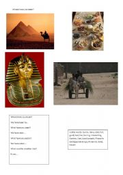 English Worksheet: Where have you been - Egypt