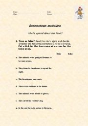 English Worksheets: brementown musicians 2