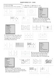 English Worksheet: Rugby World Cup flags