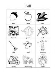 math worksheet : english worksheet fall vocabulary : Kindergarten Fall Worksheets