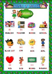 English Worksheet: SOUNDS OF ENGLISH (3 PAGES)