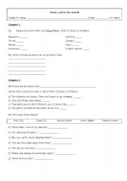 English Worksheets: Lost in the Woods - Activity worksheet