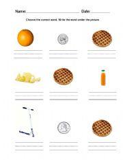 English Worksheets: Writing practice worksheet