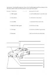 English Worksheets: Cars worsheet