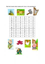 English Worksheets: jack and beanstalk