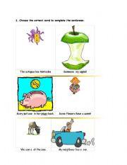 English Worksheets: homonymy