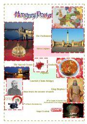 English Worksheet: Hungary Poster