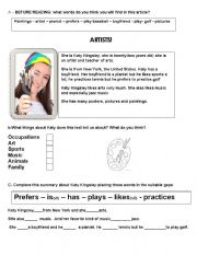 English Worksheet: Artists!