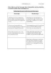 English Worksheets: letter of protest