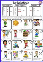 English Worksheet: PAST PERFECT SIMPLE