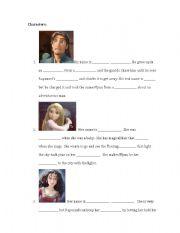 English Worksheet: Tangled Worksheet