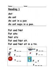 Printables Reading Phonics Worksheets english worksheet phonics reading 1