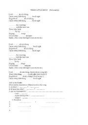 English Worksheets: SONG:Three litltle birds