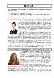English Worksheet: Dress Code