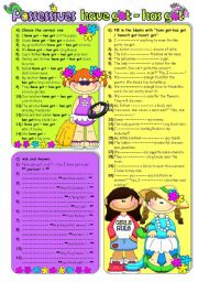English Worksheet: Have got - Has got (B&W included)