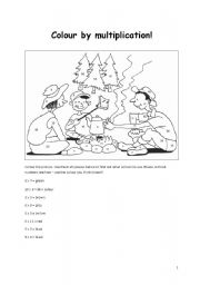 Colour the forest by multiplication!