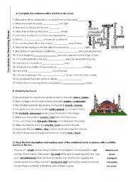 english worksheets describing places. Black Bedroom Furniture Sets. Home Design Ideas