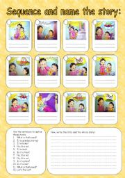 English Worksheets: Sequence the story