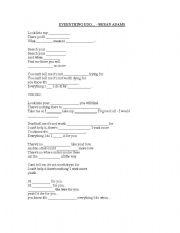 English Worksheets: Everything I Do - Bryan Adams