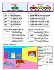 English worksheet: There is/ There are