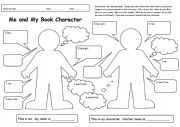 English Worksheet: Me and My Book Character (book report)