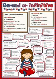 English Worksheets: Gerund or Infinitive (Greyscale + KEY included)