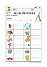 English Worksheet: HANDWRITING