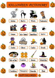 halloween pictionary - Words About Halloween