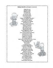 English Worksheet: Poem: Danny Lives On