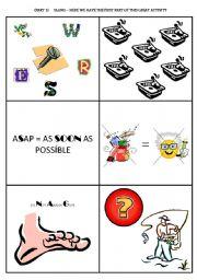 English Worksheets: Slang (Part 1 of 3) - 17 slang - fun activity