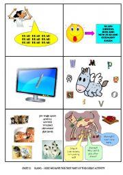 English Worksheet: Slang (2 of 3) - 17 slang - activity