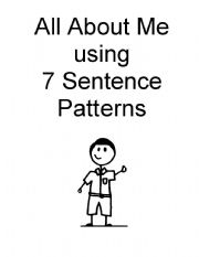 Booklet About Me Using 7 Sentence Patterns (Boy)