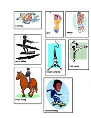 English Worksheets: Sports and Exercise Charade- 1 of 2