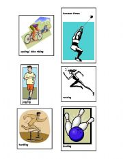 English Worksheets: Sports and Exercise Charade- 2 of 2