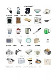 Kitchen Things Esl Worksheet By Haticegungor