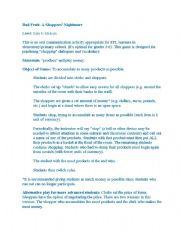 English Worksheets: Activities for ESL teacher