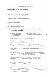 English worksheet: Revision