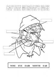 English Worksheets: Captain Morgan�s Face
